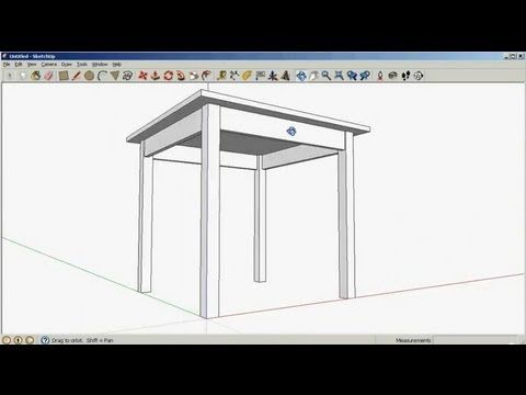 SketchUp Tutorial 2: Drawing objects with accurate