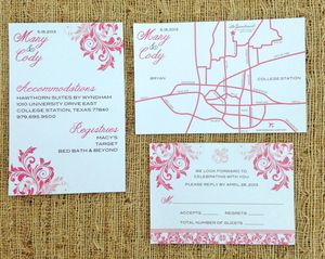 coral wedding invitation inserts my once upon a time weddin
