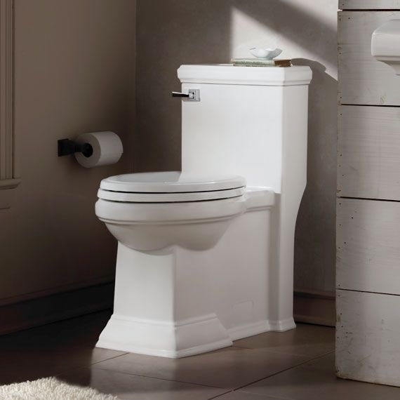 American Standard Town Square Flowise Right Height Elongated 1 Piece Toilet One Piece Toilets Toilet Small Toilet