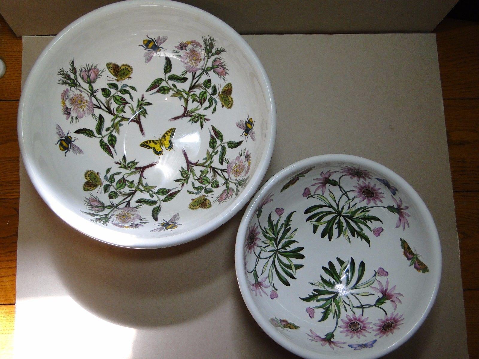 Portmeirion Botanic Garden Mixing Bowl SET OF TWO eBay