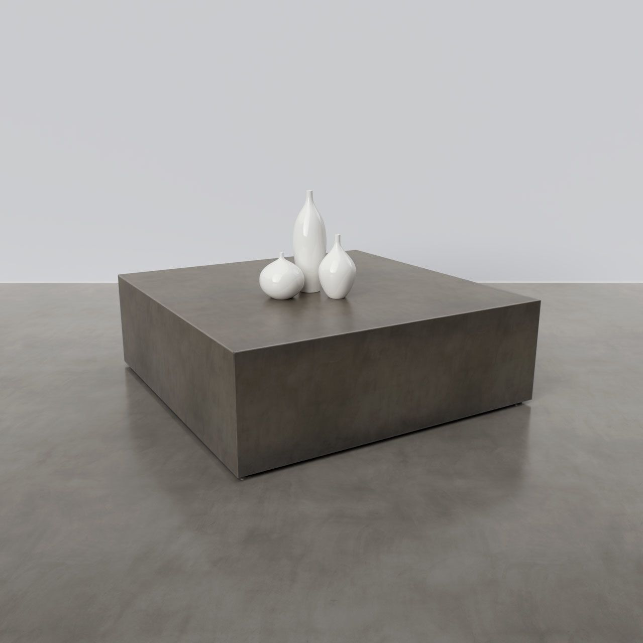 Box Concrete Table In 2020 Concrete Coffee Table Concrete Table