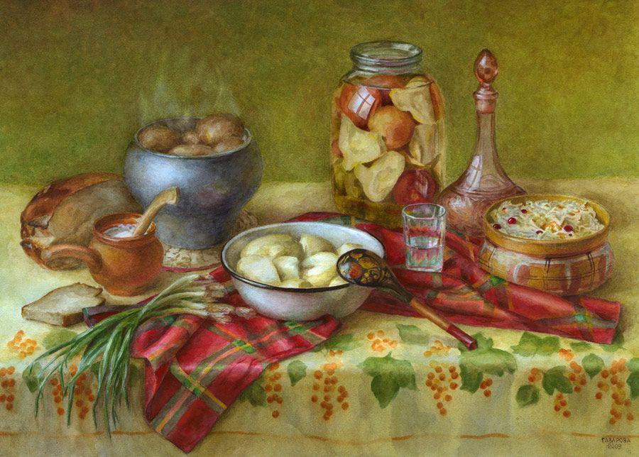 здесь позволяет картинки натюрморты с едой днем рождения