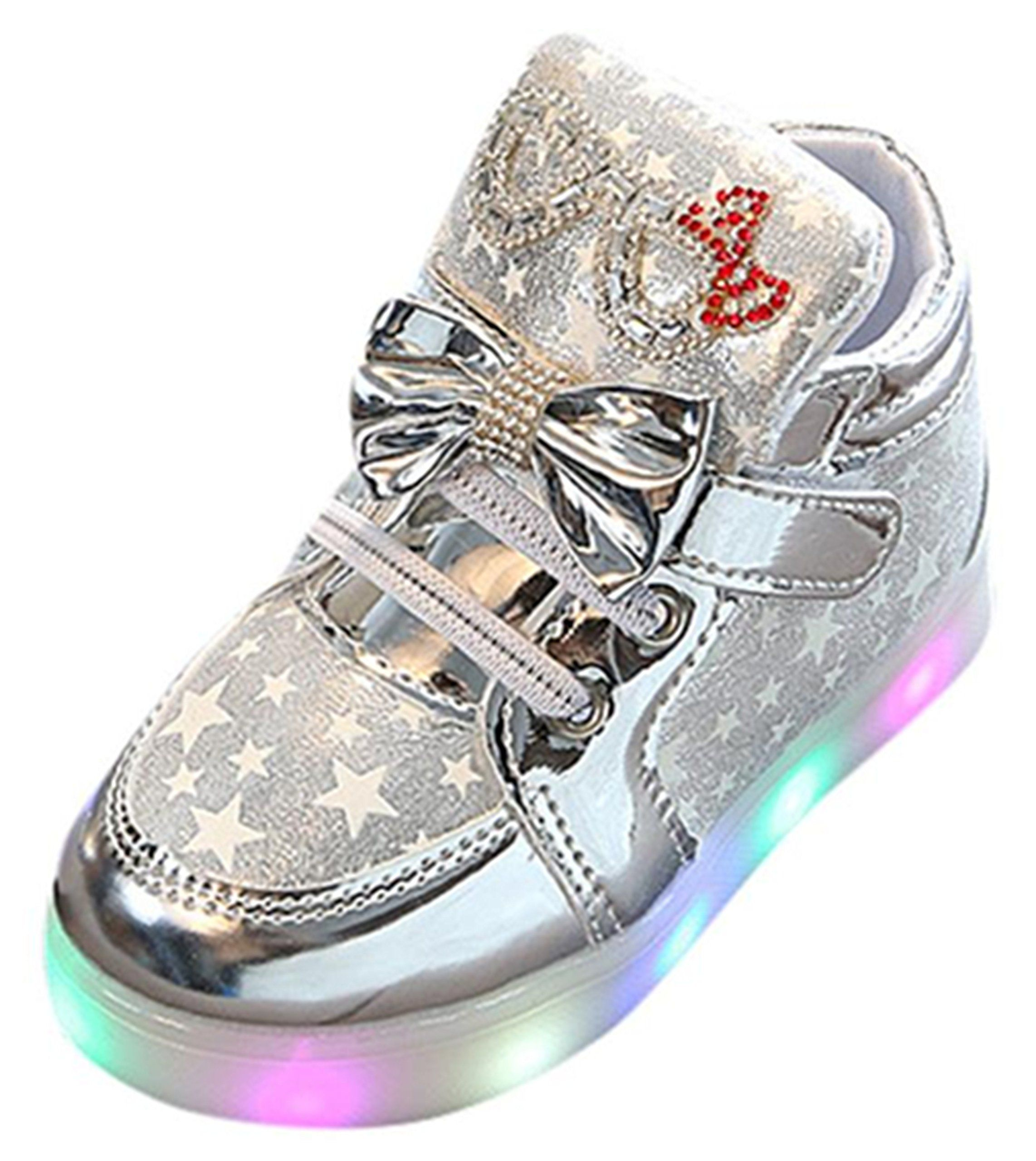 dab3e2b8027 Iuhan LED Luminous Baby Fashion Sneakers Child Toddler Casual Colorful  Light Shoes (1.5 year old