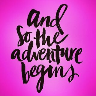 ...and so the adventure begins