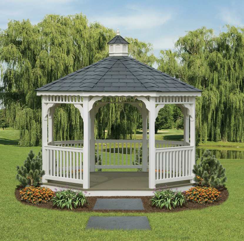 Screened Gazebo Plans On Eksterior With New Screened