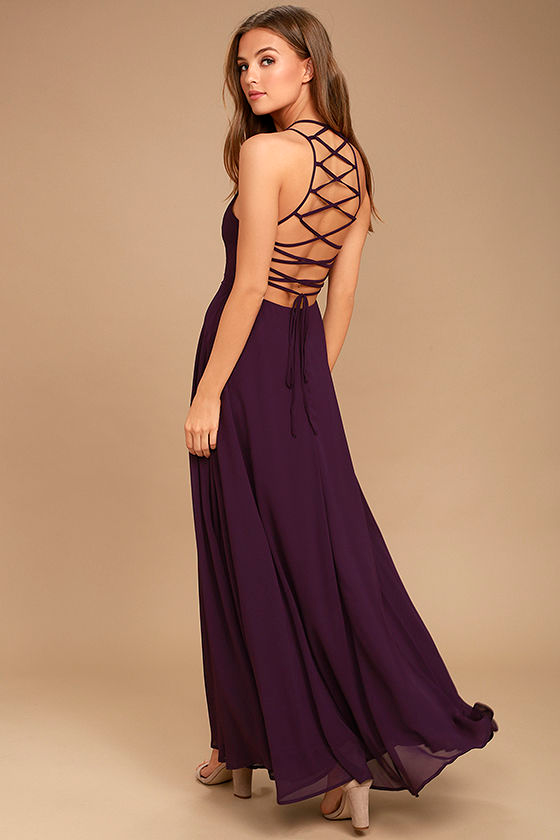 Strappy To Be Here Purple Maxi Dress In 2020 Maxi Dress Purple Maxi Dress Fancy Dresses