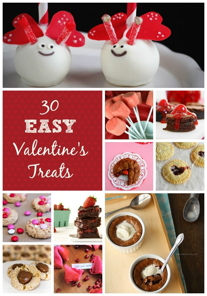 Get creative! Here's 30 Valentine's Day desserts and treats..perfect to get the kids involved to treat their mum?