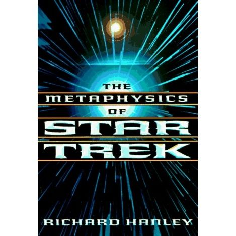 """The Metaphysics of Star Trek;  from the shows, this witty/absorbing volume looks at a broad spectrum of philosophical ideas and theories, such as """"personhood"""" the nature of a person, of minds, of consciousness and of the emotions; the nature and extent of knowledge and of free will; the nature of personal survival; the issue of what does or should matter to persons in their continued survival; and the question of the proper treatment of nonhumans, whether persons or not."""