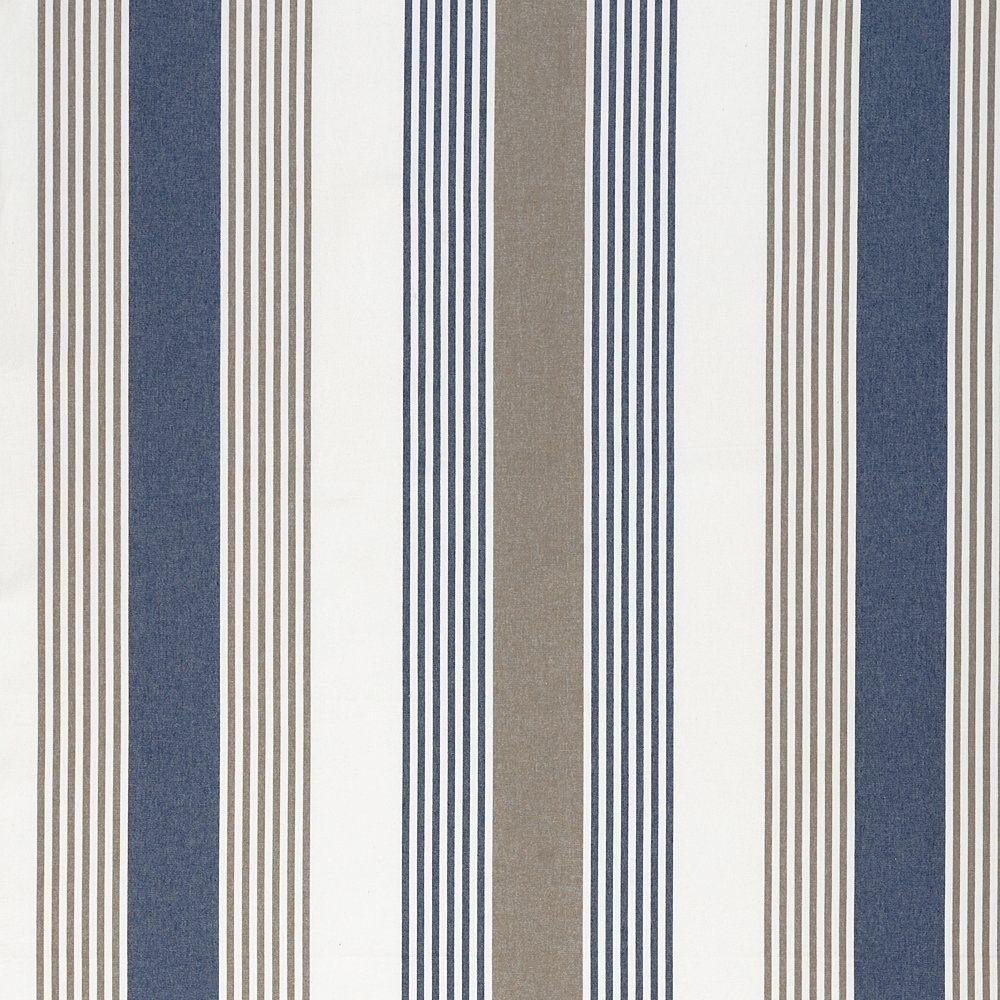 striped fabrics | ... › Fabrics › Linum › Linum Ios Navy/Brown ...