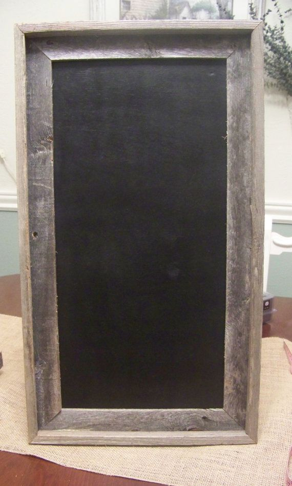 Chalkboard In Rustic Frameshabby Chic Wedding By Sugarplumcottage 40 00 Frame Shabby Rustic Frames Rustic Barn