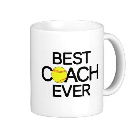 Best Softball Coach Ever Fastpitch Softball Mug Zazzle Com Softball Coach Softball Mugs