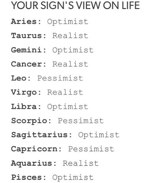 Most optimistic zodiac signs astrology