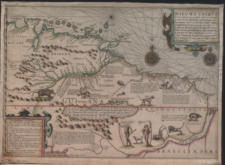 New Map of the Wonderful, Large and Rich Land of Guiana (1598)
