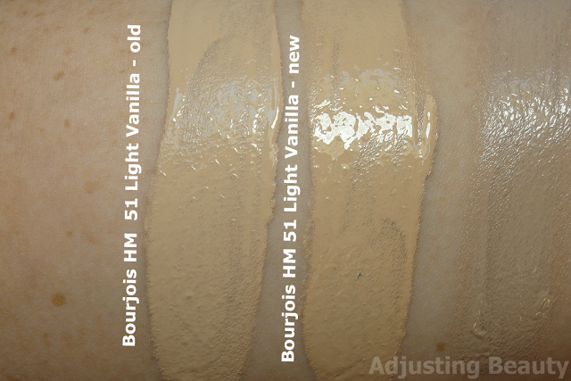 Review and swatches of Bourjois Healthy Mix Foundation in