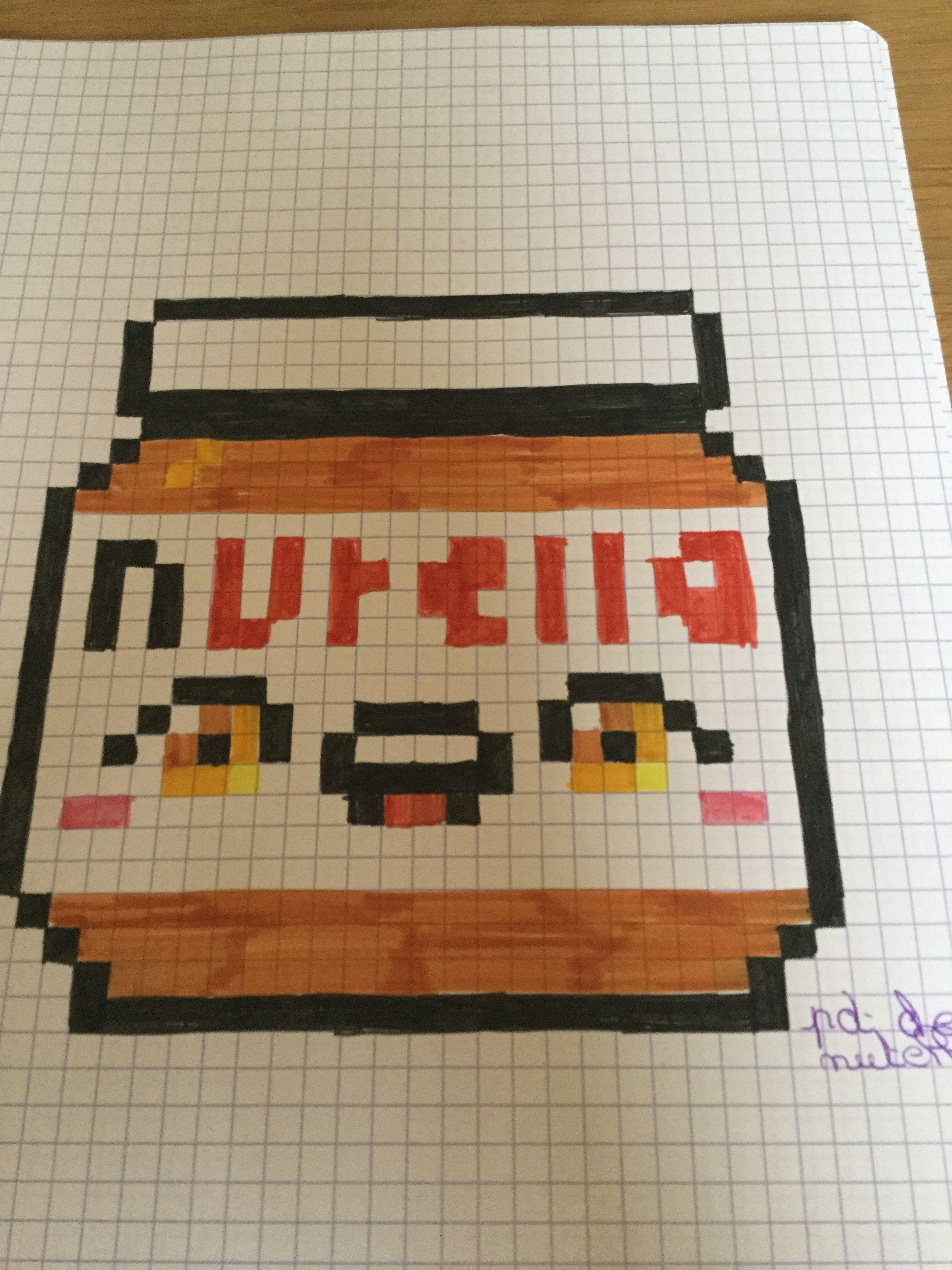 Pot De Nutella Dessin Pixel Pixel Art Et Dessin Pixel Facile