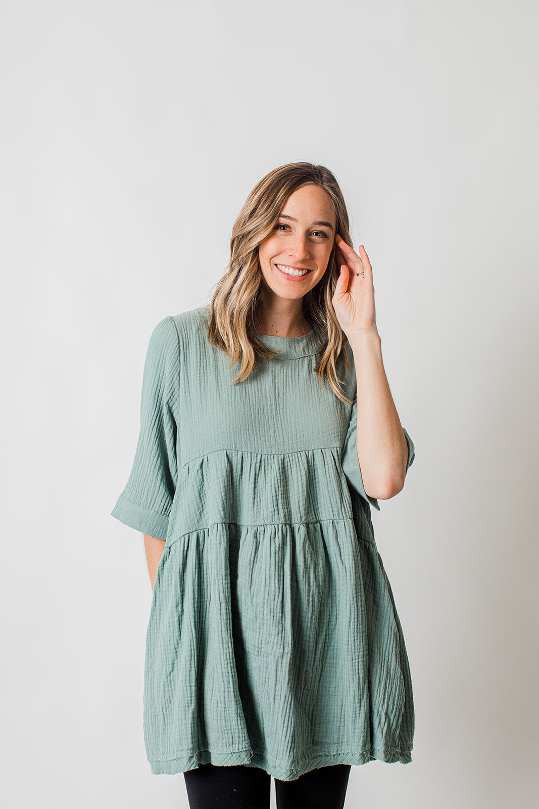 Sage Tunic Dress Tunic Dresses For Women With Leggings Dresses With Leggings Tunic Dress With Leggings Dresses [ 1600 x 1067 Pixel ]