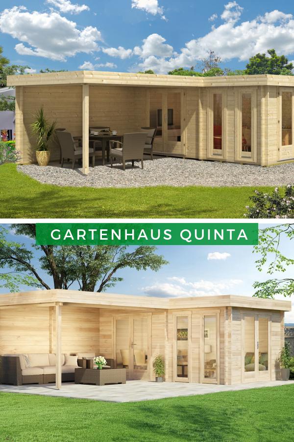 Flachdach Gartenhaus Modell Quinta44 ISO Das moderne