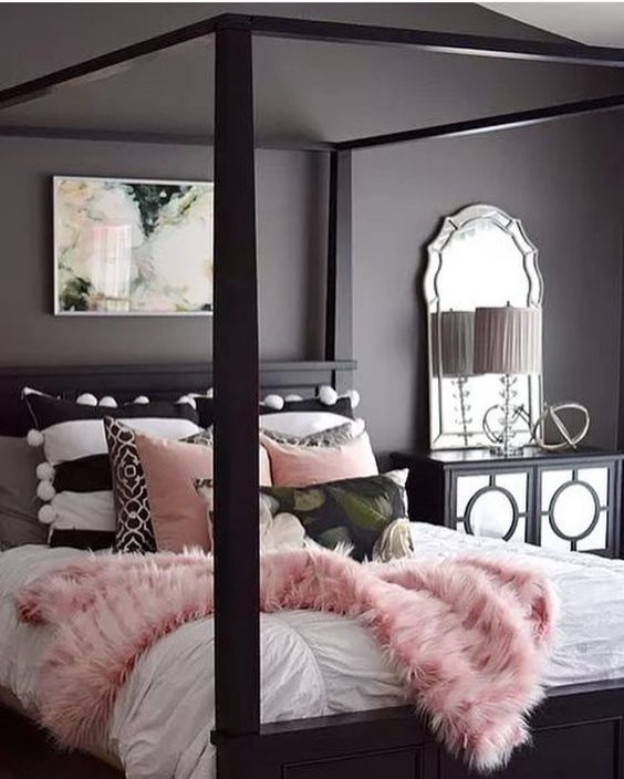 Ladies Bedroom Design Ideas Light Pink Colour Bedroom Hotel Bedroom Furniture Bedroom Black: Bedroom Decor, Room Decor