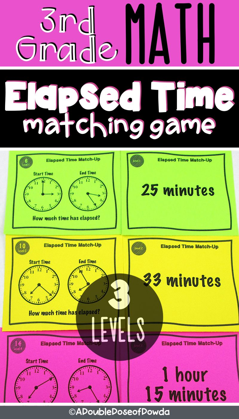 Elapsed Time Matching Activity Game | A Double Dose of Dowda