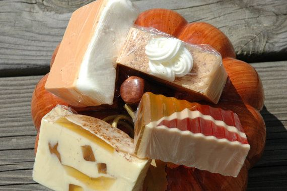 Baked apple cobbler, Warm pumpkin pie, frosted carrot cake & Autumn harvest - all delicious SOAP!  I ♥ Lavendar Rose Gifts!