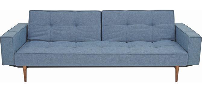Schlafsofa Blau schlafsofa blau blau ulmefarben modern holz textil 242 79 115cm