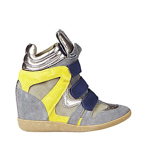8b1dd0a6fb5 Steve Madden HILIGHT BLUE YELLOW sneaker wedge. Visit the NEW  Steve Benson  MADDEN store at Scarborough Town Centre.  hightops
