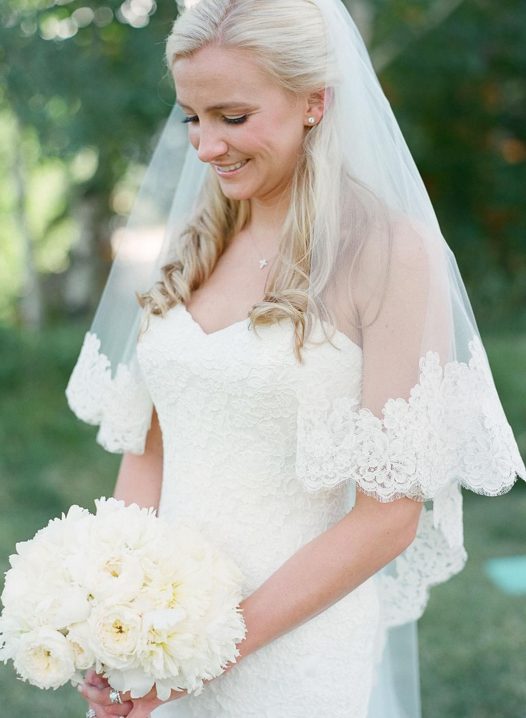 Country high low wedding dresses  The Smarter Way to Wed  Classic Weddings  Pinterest  Veil