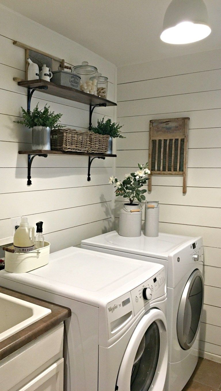 rustic laundry room reveal farmhouse blooms rustic on effectively laundry room decoration ideas easy ideas to inspire you id=83350