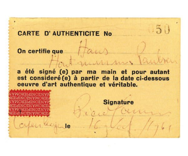 In Deed: Certificates of Authenticity in Art | Certificates of ...