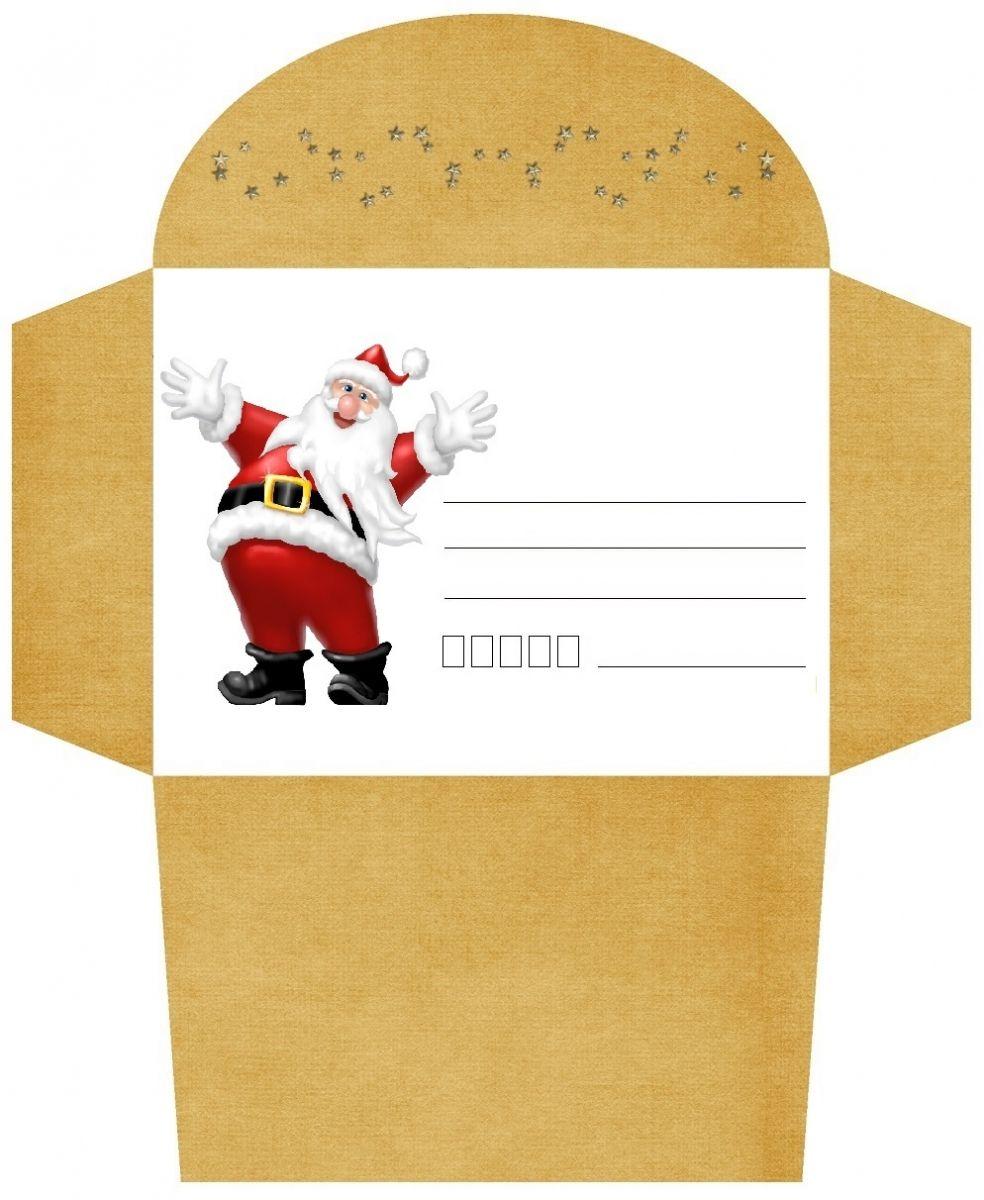 Assez Enveloppes Noël gratuites à imprimer pour les enfants | enveloppe  IL47