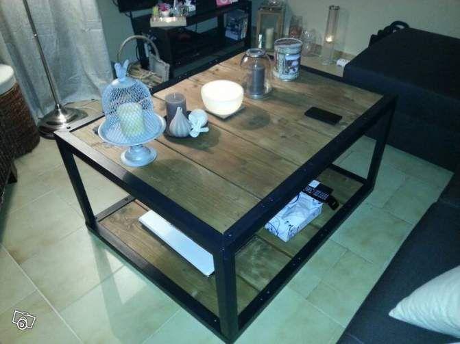 Table Basse Industrielle Ameublement Vaucluse Leboncoin Fr Avec Images Table Basse Table Basse Salon Deco Maison