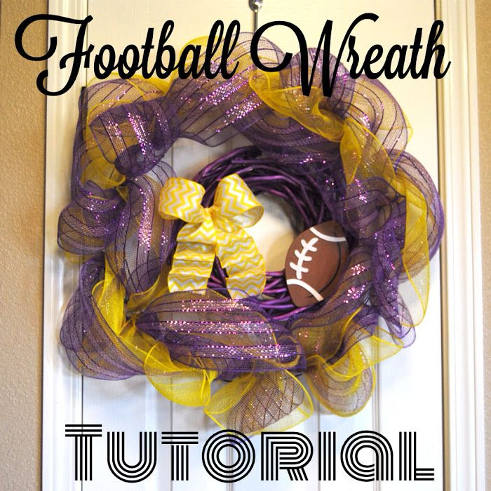 Sew Much More than Rubies: Football Wreath Tutorial
