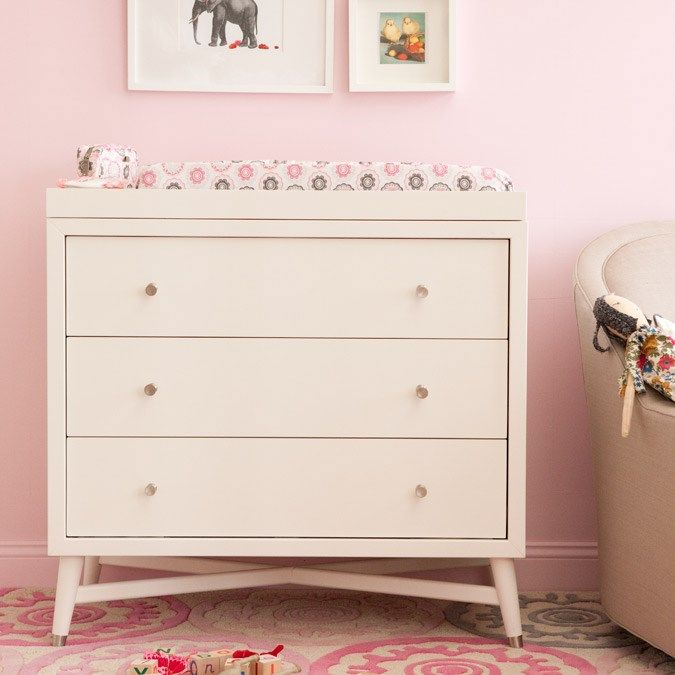 Dwellstudio Furniture Mid Century Dresser French White