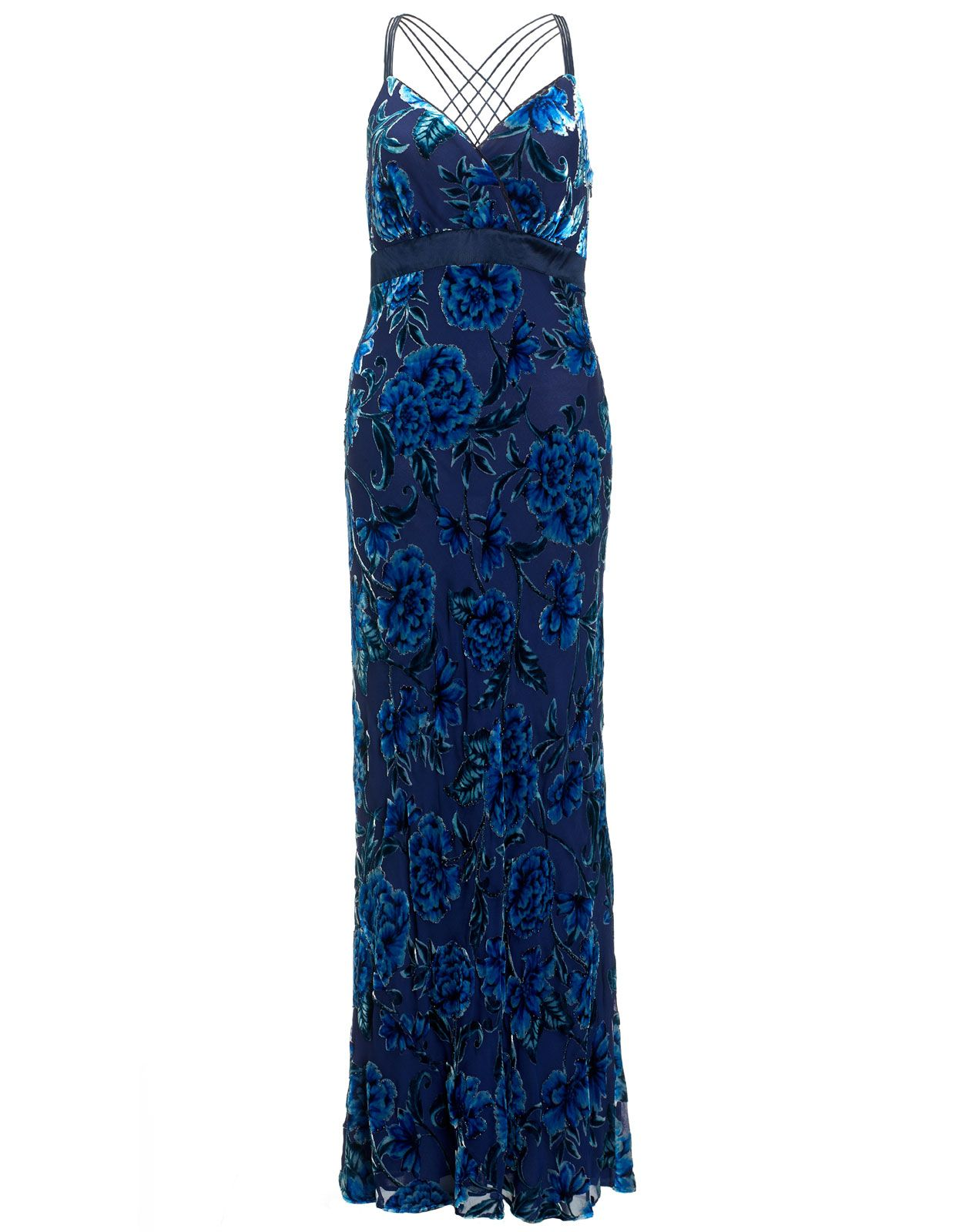 Gatsby Burnout Maxi | Blue | Monsoon