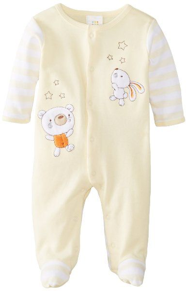 8c496da30a44 ABSORBA Unisex-Baby Newborn Neutral Bear Footie