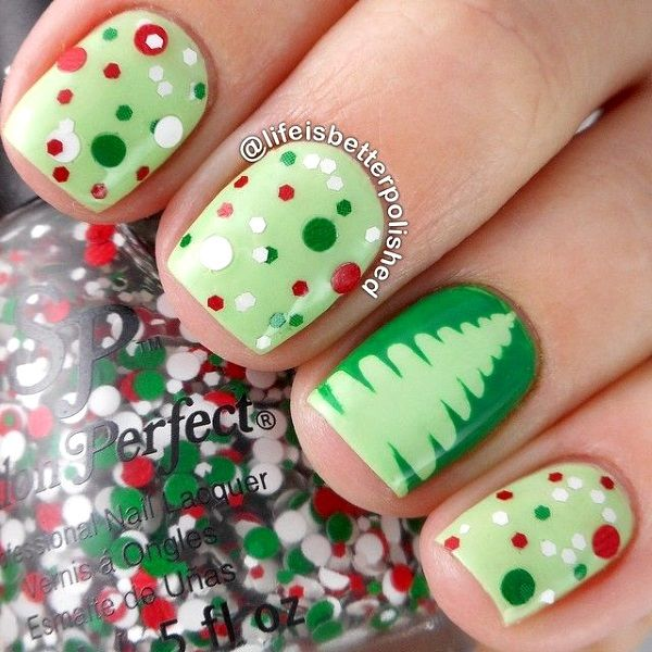 Best Christmas Nail Art Designs | nail decor | Pinterest | Diseño de ...