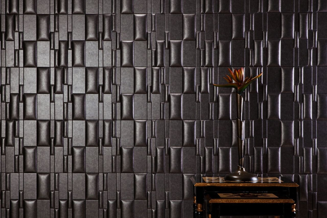 Faux leather wall tiles give a whole new meaning to a ...