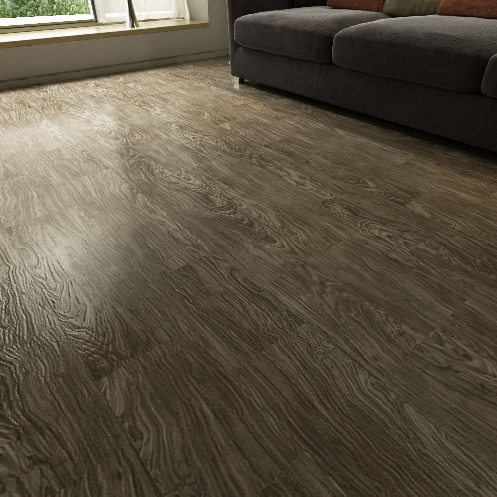 Charcoal Mist Vinyl Plank Flooring LO5MM7IN9164 Vinyl