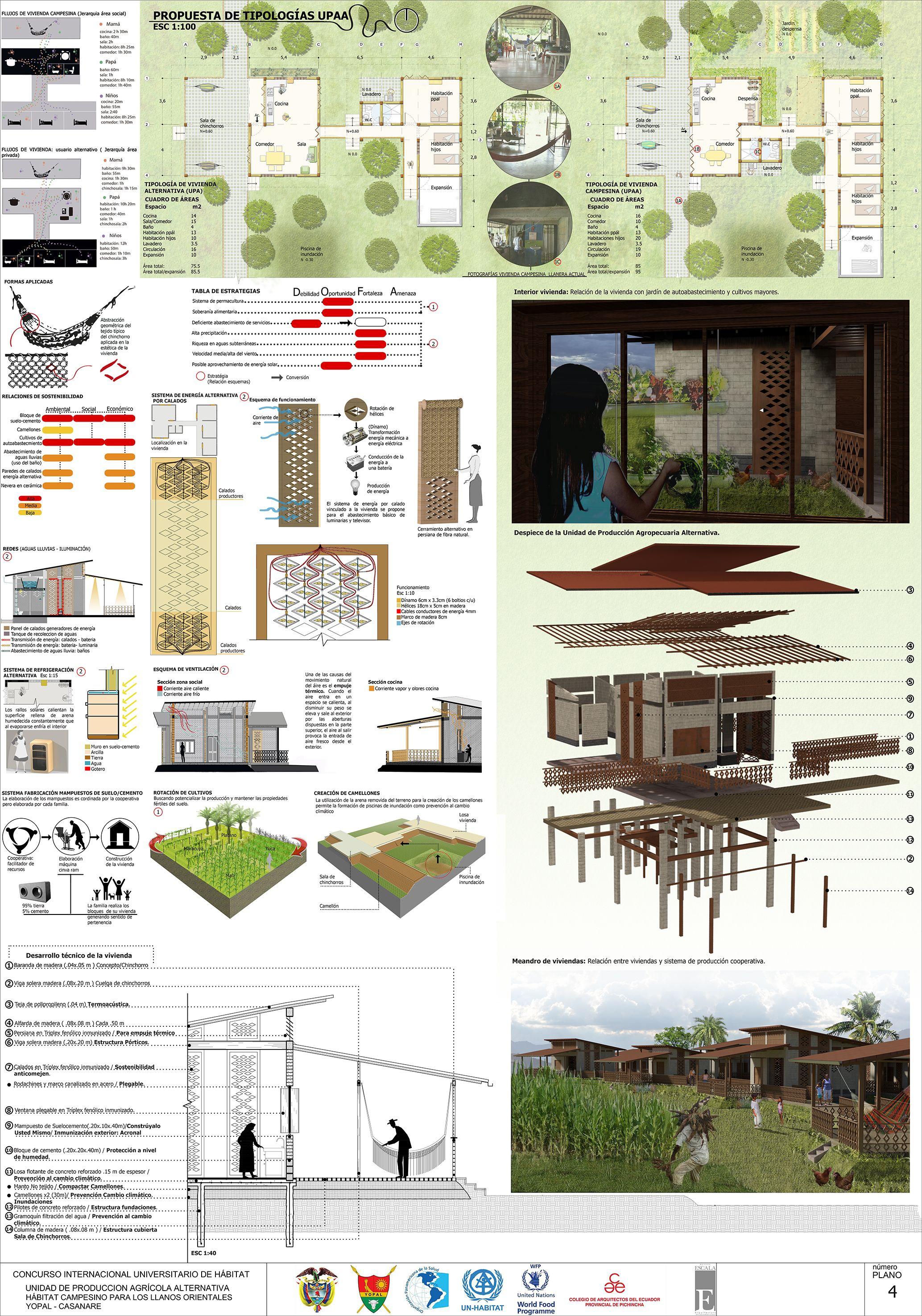 Participacion concurso convive vii 4 ra pinterest for Programas arquitectura