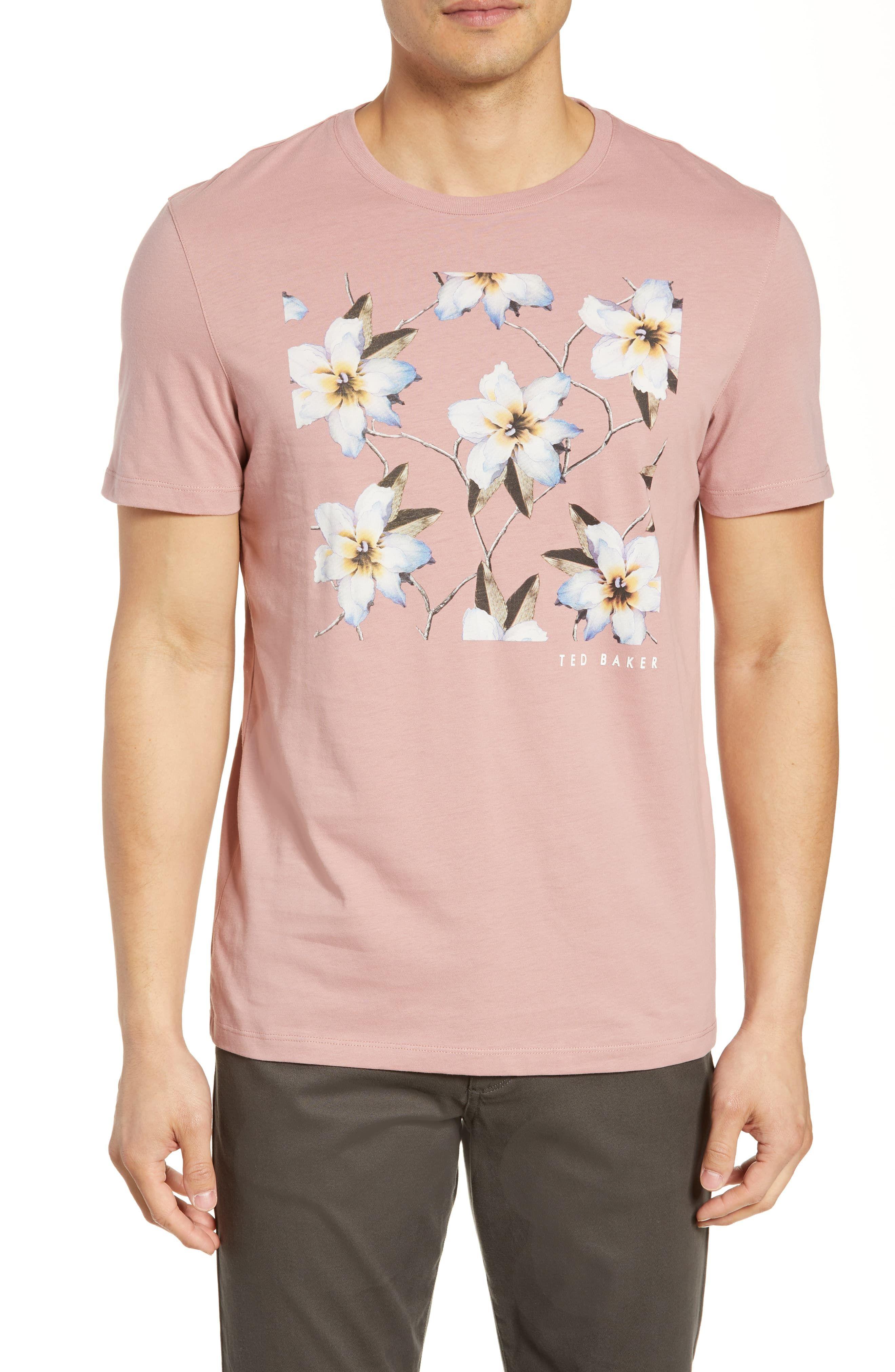 c29e04d8fc39bd Men's Ted Baker London Trim Fit Floral Graphic T-Shirt, Size 3(m ...