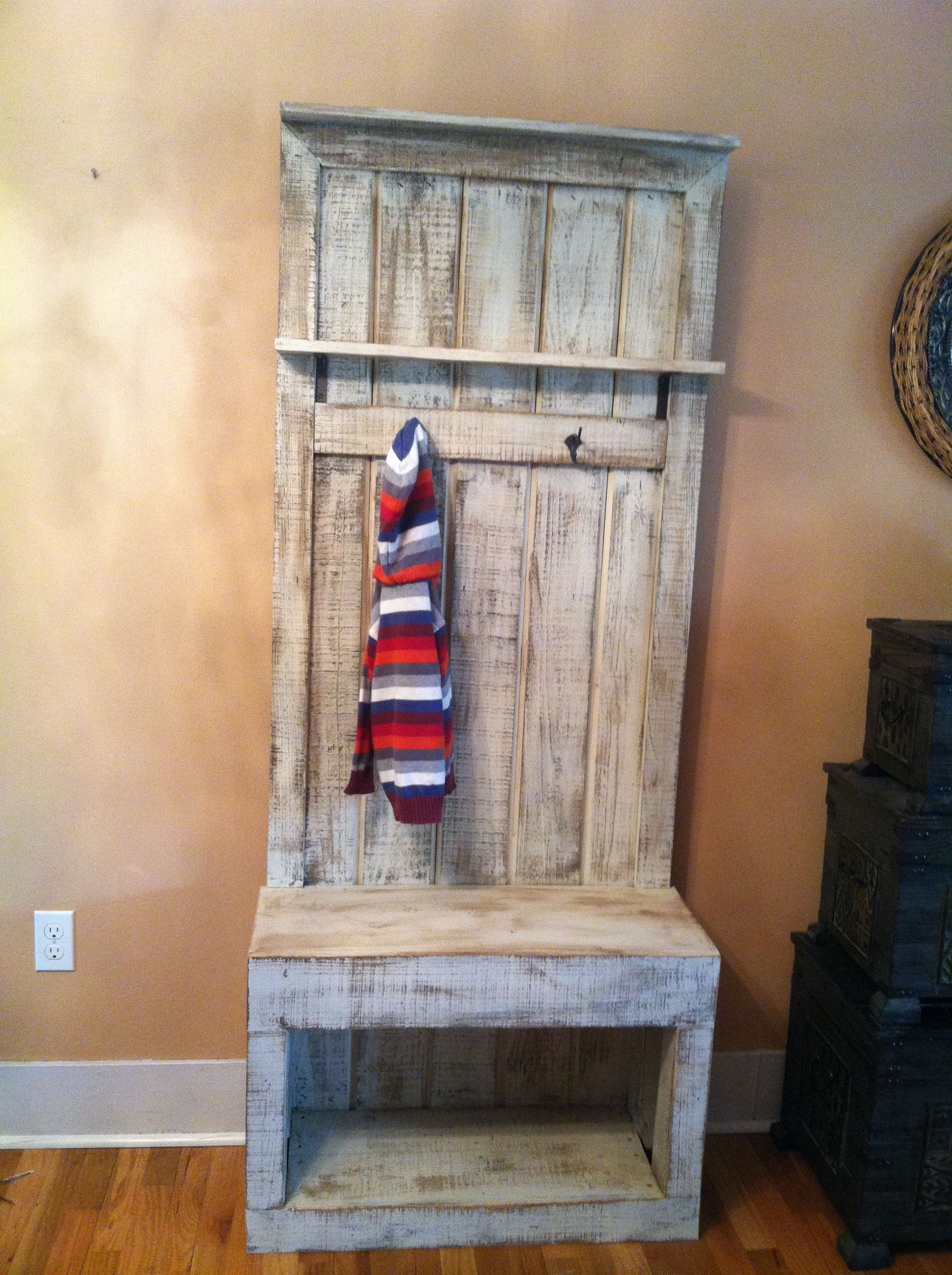 Entryway Coat Rack For Small Spaces Reclaimed Bushelandapeck Finished Projects Pinterest
