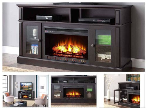 Tv Stand With Fireplace Electric Media Center Fake Heater