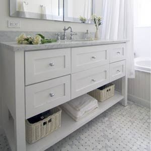 Vanity For Master Bath W Drawers And Towel Rack Hampton Style