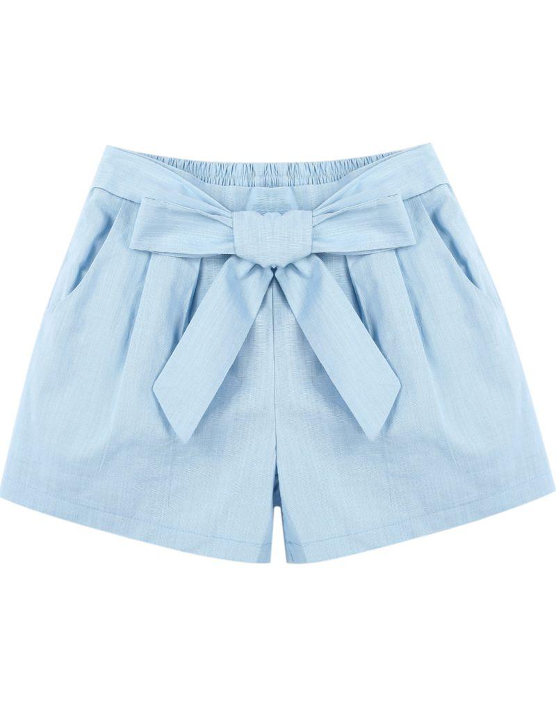 Shorts bolsillos cintura elástica-azul 10.68 | summer | Pinterest