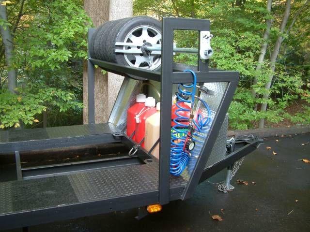 18 Open Trailer Needs Tire Rack Help Rennlist Discussion Forums Tire Rack Trailer Diy Car Trailer