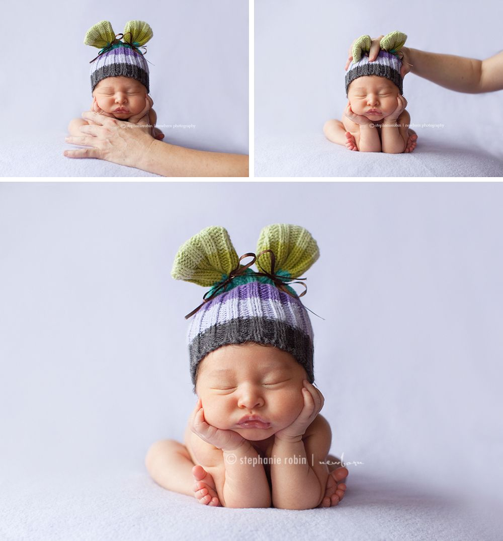 Newborn Photography Frog Pose