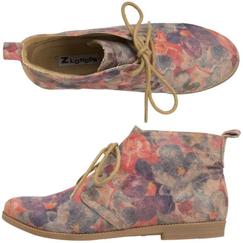 c0a5c947db2da8 Payless   Z London Oriana Ballerina Boot in floral print.  49.99 ...