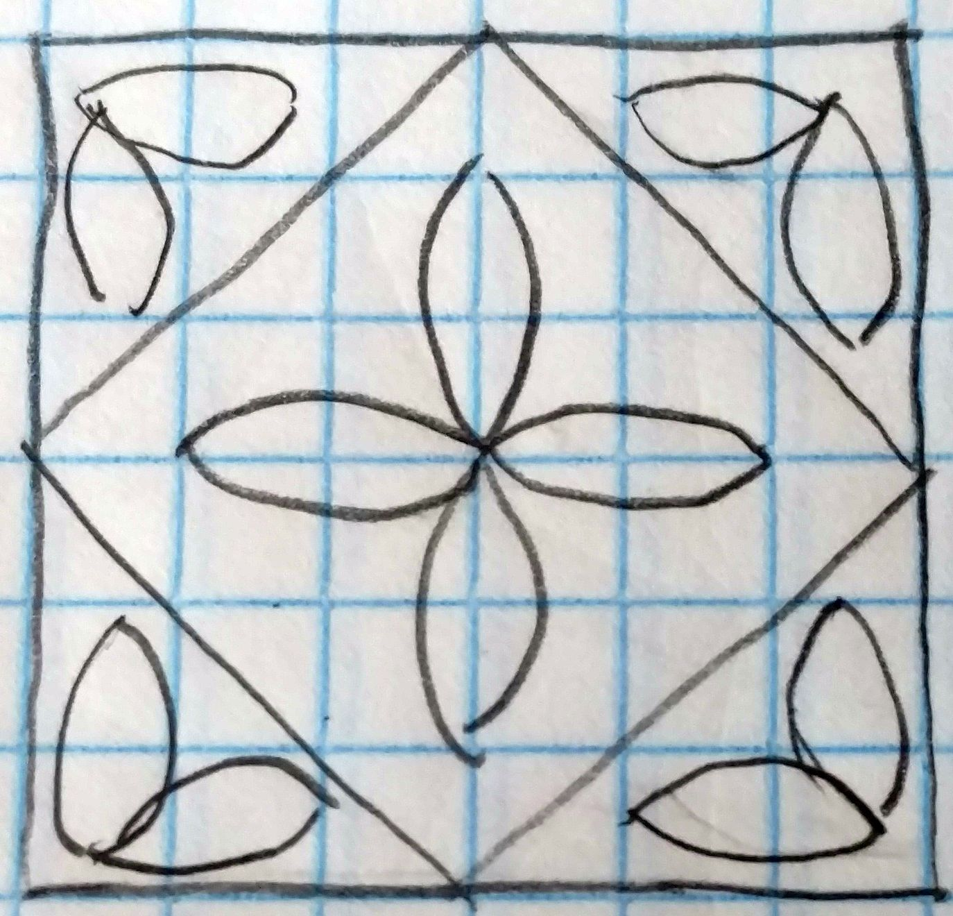 25 ways to quilt a Square in a Square block. | plantillas ...