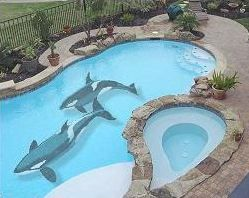 Different Colored Pools Posted On October 19 2012 By Davy Colored Pools Pinterest