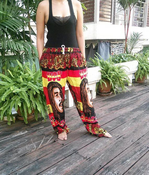 e419972eae2f97 Unisex Reggae Rasta Clothing Rastafari Fashion Printed African Bob Marley  Tank Pants Hippie Baggy Gypsy Hipster Rastafarian Harem Men